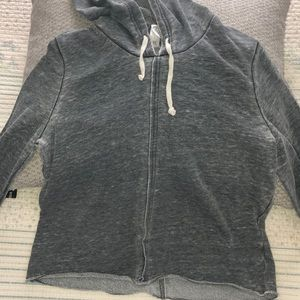 Alternative gray distressed hoodie